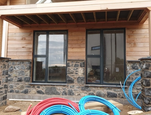 Windows finally fitted on Lookout Point, Rhosneigr