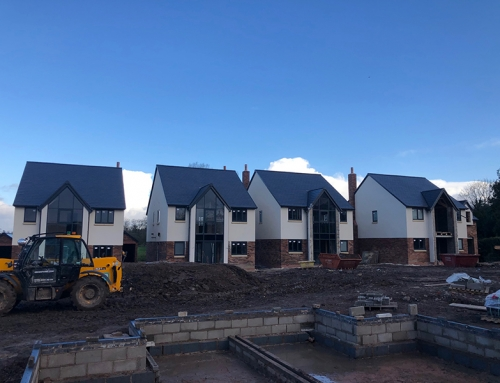 Finishing line in site on Chester Road, Kelsall new build development
