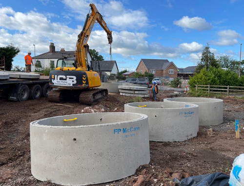 Drainage system implemented for Chester Road, Kelsall development