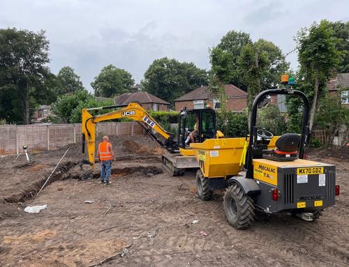 Footings being excavated at Ennerdale Avenue, Chorlton