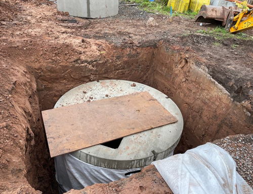 Soakaway drainage system implemented at Chester Road, Kelsall