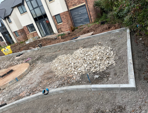 The kerbs have gone in at our development on Chester Road, Kelsall